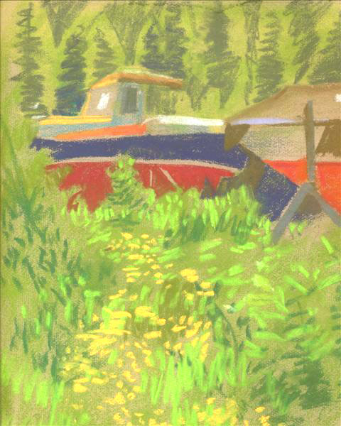 Fishing Boat & Buttercups