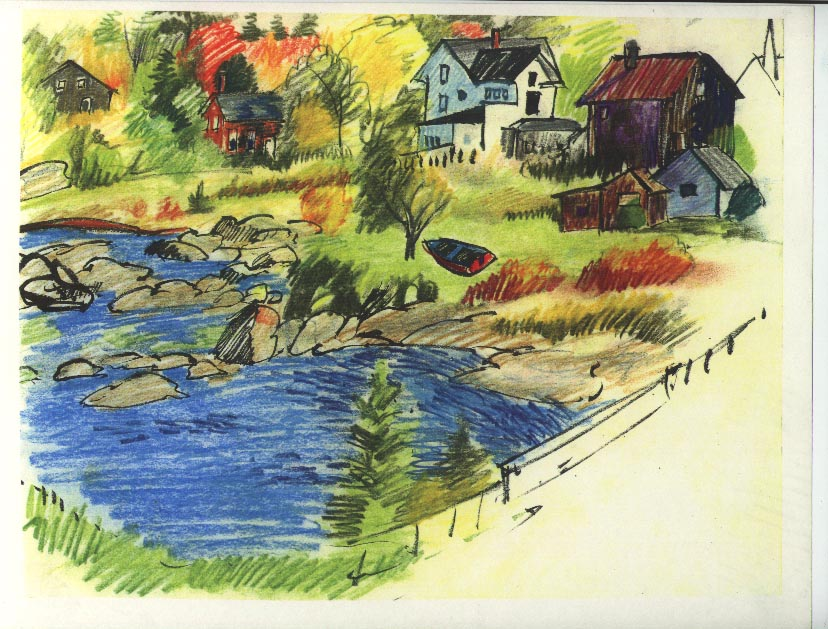 E.Blue Hill sketch near bridge