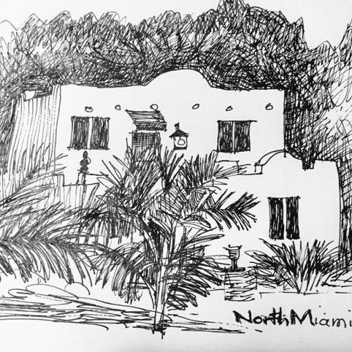 Day 34 - Pretty house in north Miami...Spanish style&link
