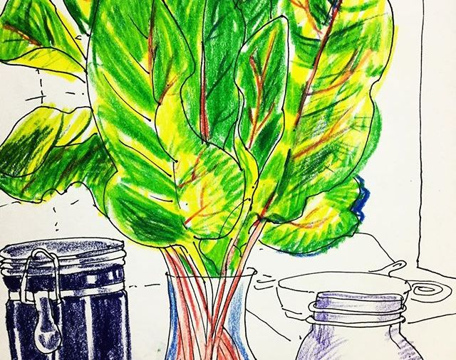 Swiss Chard in the kitchen....Day 253