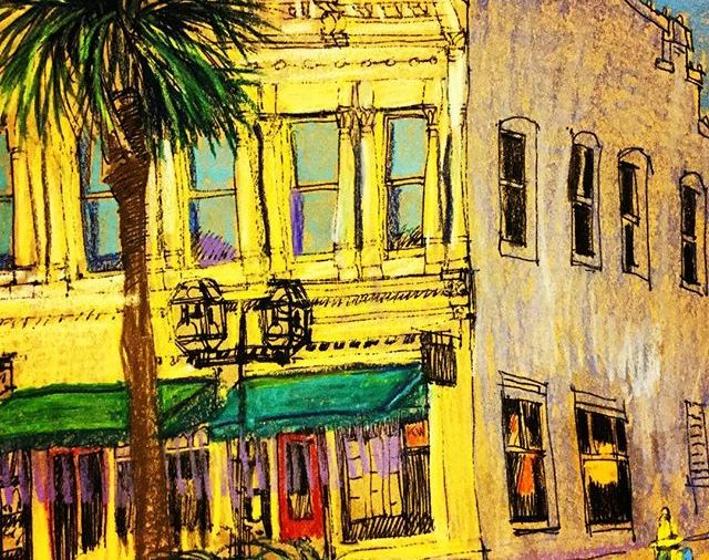 Storefronts in Fernandina Beach, Fl....there are so many beautiful buildings there....Day 338