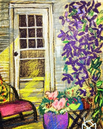 """""""Clematis vine by the back door""""... Portland, Maine.... Day 201"""