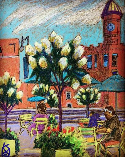 """""""Congress Square Park"""" in Portland, Maine.... there is even WiFi here... so I am here posting this which I did a couple days ago... The excellent  is across the street ...Day 229"""
