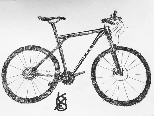 """Jake's Bike"".... I've been sick indoors all week so drawing subjects indoors now that I can draw again... Day 234"