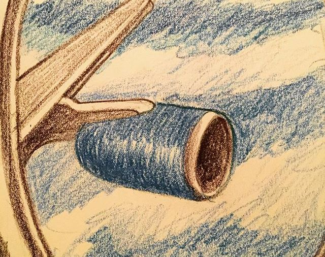 """Flying to Florida"" on Delta...to be with my 2 other grandkids... yes, we have a hurricane plan... Day 247"