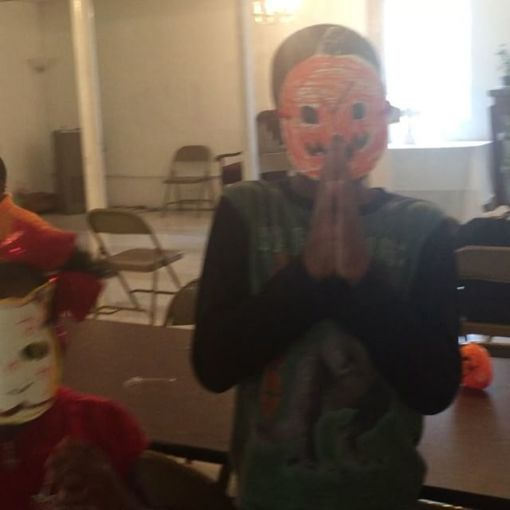 ACE Arts Mask-making class... Halloween edition.. I was the teacher & they had fun... Day 297
