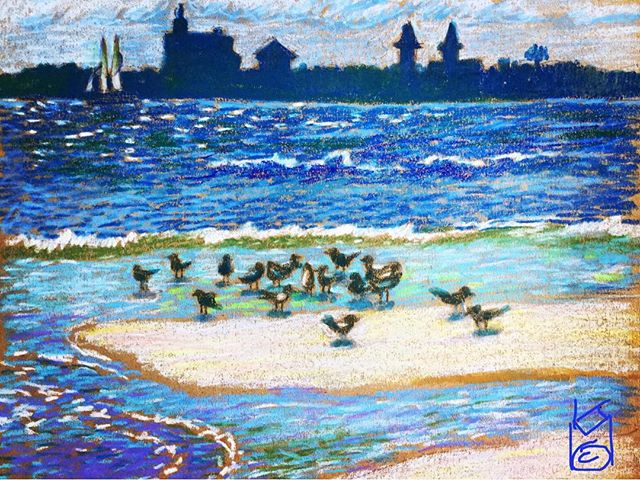 """""""View from Porpoise Point"""" at Vilano. Day 304 ...I did one last year from this same view... I will look it up & compare"""
